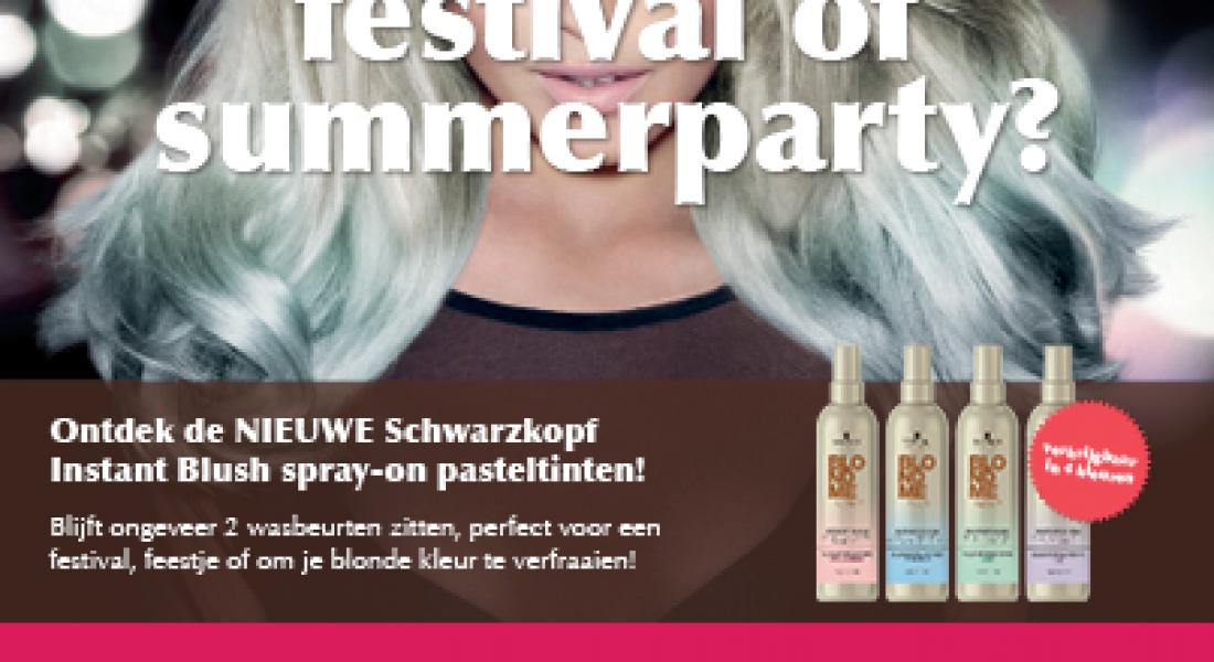 Pastel spray een feestje voor blond haar!