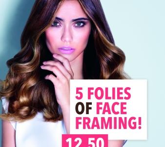 NIEUW: 5 folies of Face Framing voor maar €12,50!